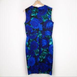 Enfocus Studio Dresses - Enfocus Studio Blue Floral Belted Bress (14)